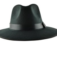 Wholesale YOCCAS Along The Winter Hat Vintage Jazz Cap Stage Visor British Men Sombreros Para Hombres Black Fedora Hats For Mens
