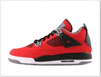 action man muscle - Cheap High Quality Red Retro Man Womens Basketball Shoes Outdoor Sneaker Air IV Low Top Athletic Trainer Action Leather Sports Boots