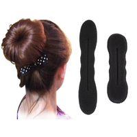 accessories for buns - 2PCS Hair Accessories for Women Bun Hair Styling Tools Sponge Magic Twist Foam French Braider Curler Bun Curler Maker Ring
