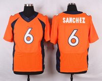 big mark - 2016 Elite new football jerseys Mark Sanchez Player Jersey Embroidery White Blue Orange jerseys Big order for DHL