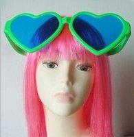 Wholesale Colorful Heart Shape Oversized Glasses Fans Big Sunglasses