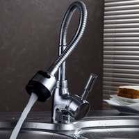 Wholesale New Solid Brass Kitchen Mixer Cold and Hot Kitchen Tap Single Hole Water Tap Kitchen Faucet ZH865