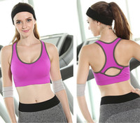 Wholesale High Quality Professional Sexy Women Sports Bra Stretch Athletic brassiere Push Up Bras Top Shockproof yoga running fitness sports bra