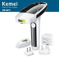 Wholesale Laser Device Face - KEMEI KM-6812 Photon Hair Removal Device Laser Epilator Permanent hair reduction for full Body and Face Hair Removal Laser Epilator 0606010