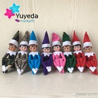 Wholesale CHEAPEST In stock Style Christmas Plush Toys Elves On The Shelf Xmas Dolls And Soft Book cm For Kids Holiday Gift