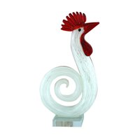 arts and crafts bags - Chicken figrine glass crafts Lucky business opening wedding gifts and practical creative minimalist modern home accessories auspicious
