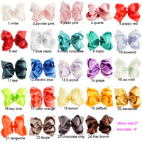 Hair Bows baby stack - 24pcs inch Solid Hair Bows Boutique Stacked Headwear Baby Girls Hair Accessories With Alligator Clip