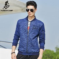 basic outerwear - Pioneer Camp autumn blue camouflage jacket men outerwear coats mens jackets and coats brand basic jackets for men