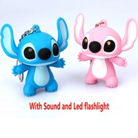 Round baby ring pendant - Star Baby Key Rings Led Sound Keychains Cartoon Mini Flashlight Doll Pendant Keychains For Cell Phone Car Handbag Gifts PX K03