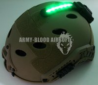 Wholesale Green Core Survival HEL STAR Helmet Mounted Light flash identification survival Helmet Light DE