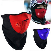 Wholesale Unisex Windproof Warm Harf Face Mask Winter Snowboard Ski Mask Ride Bike Motorcycle Cap Neoprene Neck Warm CS Mask For Men Women