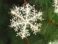 Wholesale 9 pieces White Snowflake Ornaments Christmas trees decorations Festival Party Home Decor New Year sizes