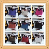 Wholesale DY_33CM top quality Luxury Fe d Peekaboo Women s Genuine Leather Bag Casual Frame Handbags Famous Designer Ladies Small Totes Color