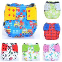 Wholesale Happy Flute AIO Cloth Diaper Reusable Diapers for Baby Breathable Bamboo Charcoal Double Gussets OS Pocket Diaper