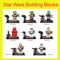Wholesale Star Wars Building Blocks Emperor s Royal Guard minifigures kids Education Toys Children Gifts bricks