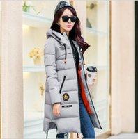 Wholesale 2016 Winter Thickening Women Parkas Women s Wadded Jacket Outerwear Fashion Cotton padded Jacket Medium long Coat Army Green