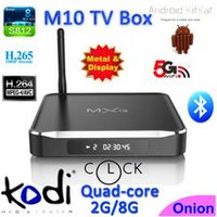 android tv box wifi antenna - 2016 Metal Quad Core MXQ M10 Android TV Box Amlogic S812 WiFi Antenna Kodi Fully Loaded IPTV Box GB GB M10 TV Box