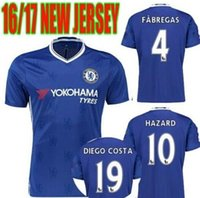 Wholesale Benwon Chelsea Home Blue Soccer Jersey PEDRO OSCAR FABREGAS HAZARD DIEGO COSTA men s top thai quality Football t shirts