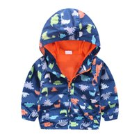Wholesale Cool Boys Kids Coat Jackets Dinosaur Printing Handsome Children Autumn Spring Outwear Boutique Clothing for T