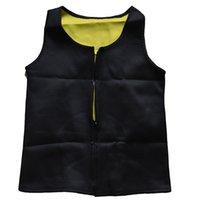 Wholesale Unisex Shapers Hot Mens Neoprene vest with zipper Sweat Waist Cincher Shapewear Tummy Control Belly Body Tops