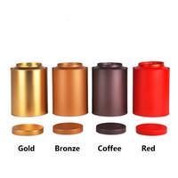 wholesale tea tins - 15 cm Round large capacity tea tin box candy metal storage box for tea g