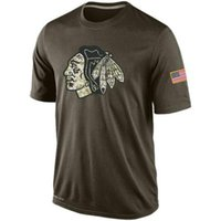 Wholesale NHL Blackhawks T Shirts cheap Hockey jerseys Tshirts Chicago Salute To Service Camo Stack Rink Warrior Tri Blend