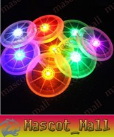 Wholesale DY165 New sports toy pet dog pet supplies LED luminous Frisbee colors optional support for mixed batch