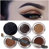 cosmetic eyelash - Anaastasia Duo Eyebrow Brushes Eyelash Comb Angled Cut Brush Blending Brush Eyebrow Brush Dip Brow Pomade Cosmetics Brush Set Makeup