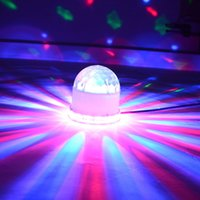 Wholesale Black and White Sunflower Effect Led Crystal Magic Ball Lighting Bulb Lamp Voice Actived Rotating Stage Light