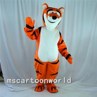 Wholesale High Quality Cute Funny Tigger Mascot Cartoon Costume Fancy Dress Halloween Costume