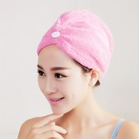 Wholesale Quick drying thick turban strong absorbent towel dry hair dry hair cap shower cap microfiber wipe hair