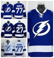 best bay - Tampa Bay Lightning Jonathan Drouin Jersey Blue White Team Color Victor Hedman Ice Hockey Jerseys Sports Embroider Best Quality