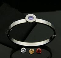 american tv channels - The circular diamond drill for Titanium Bracelet Diamond Rose Gold Bracelet with four grain diamond bracelet clasp