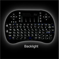Wholesale Keyboard Original Rii mini i8 Wireless Keyboard Qwerty Touchpad Backlit Keybord for HTPC Tablet Smart TV Box PC Teclado