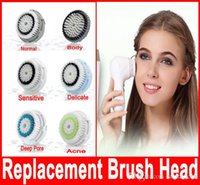 Wholesale Face Cleaner Replacement Brush Head for Normal Sensitive Delicate Acne Deep Pore Body Washing Face Skin Deep Cleaning Brush Head