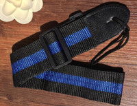 Ajustable durable tejido de nylon correa de la guitarra con extremos de cuero para eléctrico acústico guitarras folk alta calidad