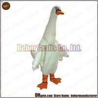 accept music - swan mascot costume hot high quality cheap plush swan mascot cartoon set adult type we accept customized mascot