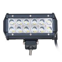 al por mayor luces de techo llevado de camiones-36W Cree LED Luz de trabajo 12V vehículo ATV Offroad luces Bar Tractor camión barco de la lámpara SUV UTV Jeep coche techo luces reflector Floodlight