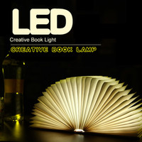 Cheap Wholesale USB New Creative Rechargeable Battery LED Folding Light Book Style Desk Table Lamp Night Light Free Shipping