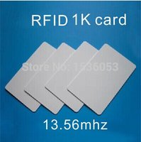 Wholesale RFID proximity IC card MHZ S50 K memory suit for access control time attendance car parking