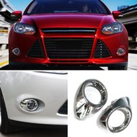 auto bumper covers - 1set For Ford Focus Auto Front Bumper Front Foglights Decoration Frames covers