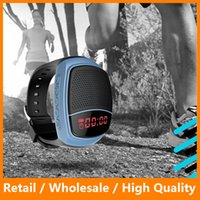 bicycle watches - Portable Bluetooth Sports Music Speaker Watch B90 Mini Bicycle Speaker Wireless Bluetooth Speakers Support TF SD FM Audio Radio