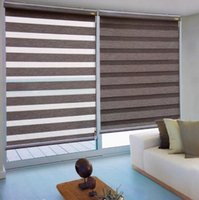 Wholesale Custom Made Blackout Thermal Imitation linen fabric Zebra Blinds