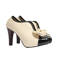 Wholesale V port cute US bow high heeled shoes large size
