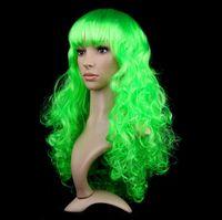 Wholesale Color Big Wave Wig Set Halloween cosplay wigs Christmas Costume white black ponytail wig cosplay wig