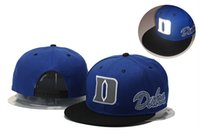 Wholesale Duke Blue Devils Basketball Caps Snapback College Football Hats Adjustable Cap New Style Cheap Duke Hat