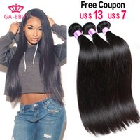 Wholesale Cheap Real Hair Pieces - Natural Human hair Weave Cheap Brazilian Hair Malaysian hair bundles Real Indian Straight hair extension Peruvian hair weft 100g pc