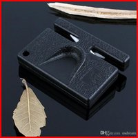 Wholesale Mini Portable Sharpener ceramic pocket Sharpener dual purpose Sharpening knife stone whetstone outdoor Kitchen hand tools