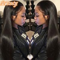 Precio de Cordón lleno recta superior de seda-Natural Color Natural recta de seda Base Full Lace Wigs Con Natural Hairline Silk Top Lace Front Wigs con el pelo del bebé alrededor