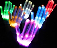 Wholesale LED Skeleton Gloves Halloween Christmas Party LED Flash Gloves Rave Led Light Up Party Favor Glove Glow In The Dark